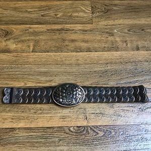 Accessories - Bohemian Metal Belt Sequent Segmented Oval Buckle